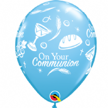 Communion Symbols (Blue) - 11 Inch Balloons 6pcs